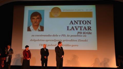 Priznanje PZS Antonu Lavtarju